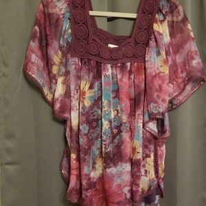 Seventh Avenue sheer top w/cami size L